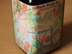 Noodler's Black Swan in Australian Roses - Close Up