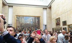 Everyone wants a pic with the Mona Lisa