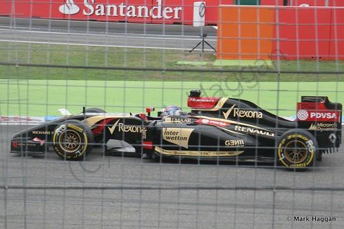 Romain Grosjean in the 2014 German Grand Prix
