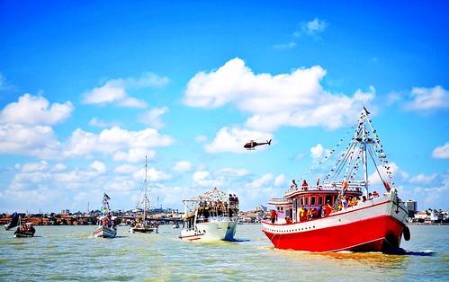 Procissão marítima de São Pedro .  São Luís, Maranhão - Brasil