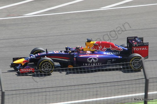 Sebastian Vettel in Free Practice 3 at the 2014 Germand Grand Prix
