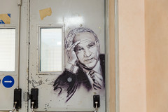 Tribute to Werner Heisenberg by Christian Guémy (aka C215) at CEA Saclay