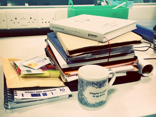Today is all about...emptying my desk