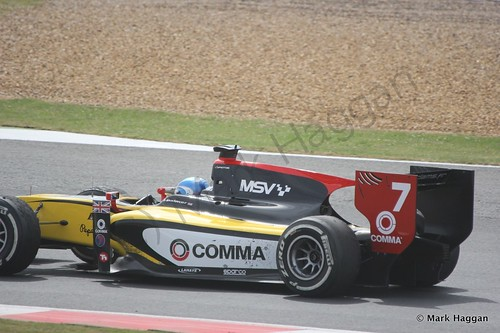 Jolyon Palmer in his DAMS during the first GP2 race at the 2014 British Grand Prix weekend