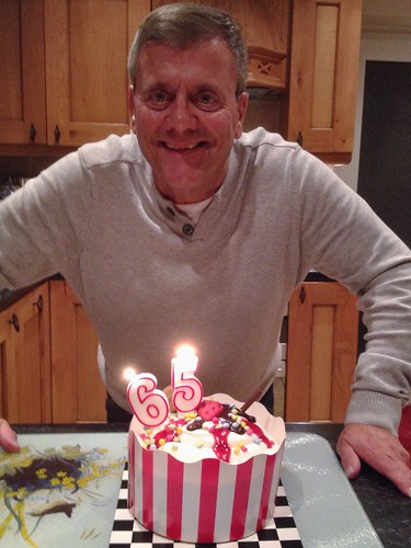 Today is all about...Derek's 65th birthday celebrations