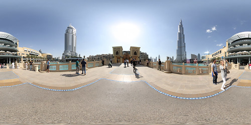 Dubai Souk Al Bahar Bridge - Panorama