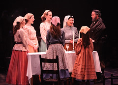"""(L to R) Kristen J. Smith, Leah Horowitz, Lauren T. Mack, Adrienne Barbeau and Bob Amaral in the Music Circus production of """"Fiddler on the Roof"""" at the Wells Fargo Pavilion Aug 14-19. Photo by Charr Crail."""