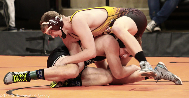 195A - 5th Place Match - Dominik Vacura (Badger-Greenbush-Middle River) 32-11 won by fall over Johnathan Smid (Blackduck-Cass Lake-Bena) 30-13 (Fall 1:44)