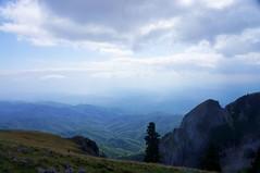 Vedere spre satele Barbatesti si Cheia
