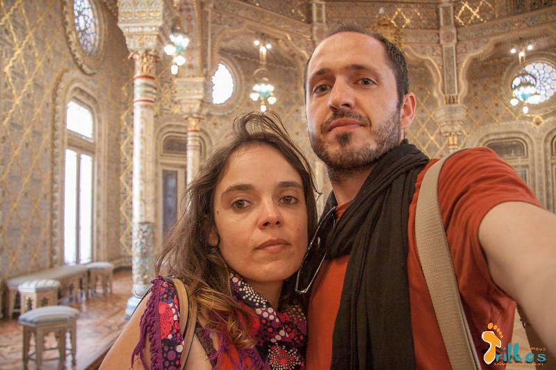 OS viajantes no Salão Árabe