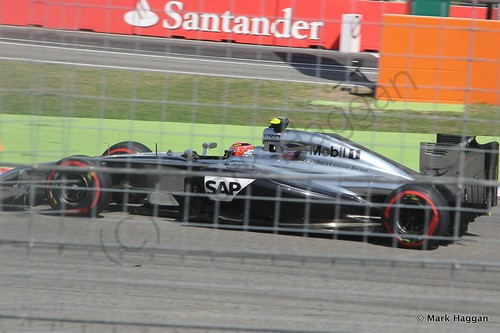 Kevin Magnuessen in qualifying for the 2014 German Grand Prix