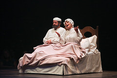 """Bob Amaral and Adrienne Barbeau as Tevye and Golde in the Music Circus production of """"Fiddler on the Roof"""" at the Wells Fargo Pavilion Aug 14-19. Photo by Charr Crail."""