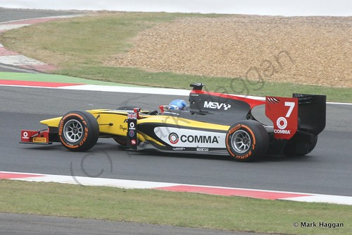 Jolyon Palmer in his DAMS car in the second GP2 race at the 2014 British Grand Prix