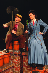 Robert Creighton (Bert) and Kelly McCormick (Mary Poppins) in Mary Poppins, produced by Music Circus at the Wells Fargo Pavilion July 8 - 13, 2014. Photos by Charr Crail.