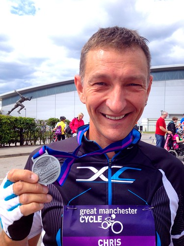 Today is all about...Chris & the Great Manchester Cycle