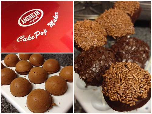 Today is all about...making cake pops for the first time