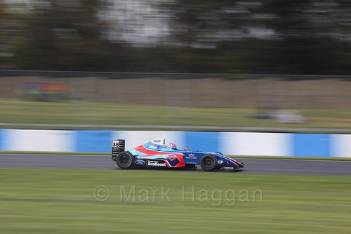 Jamie Caroline in British F4 Race Two during the BTCC Weekend at Donington Park 2017