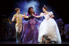 Adrian Arrieta, Kecia Lewis and Paige Faure in Rodgers + Hammerstein's Cinderella presented by Broadway Sacramento at the Sacramento Community Center Theater May 12 – 17, 2015. Photo by Carol Rosegg.