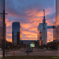 Brussels North Station - Burning Sky