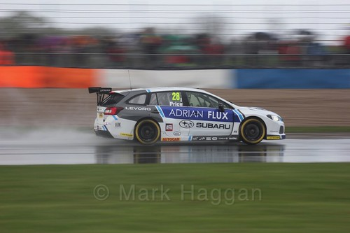 Josh Price in race three at the British Touring Car Championship 2017 at Donington Park