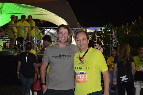 Bernardo Fonseca, dono da marca XTerra no Brasil, com o presidente da FIEMG Vale do Aço, Luciano Araújo, que trouxe o evento para Ipatinga