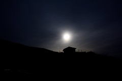 Moon on the ridge.