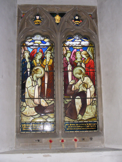 War Memorial window Saulez 1917