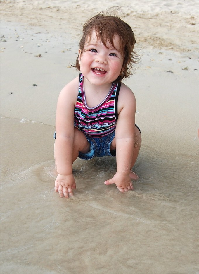 First time at the beach!