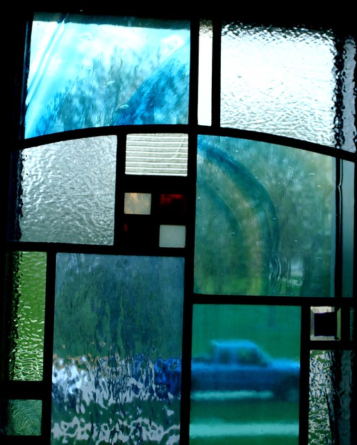 Blue Truck in Chapel Window