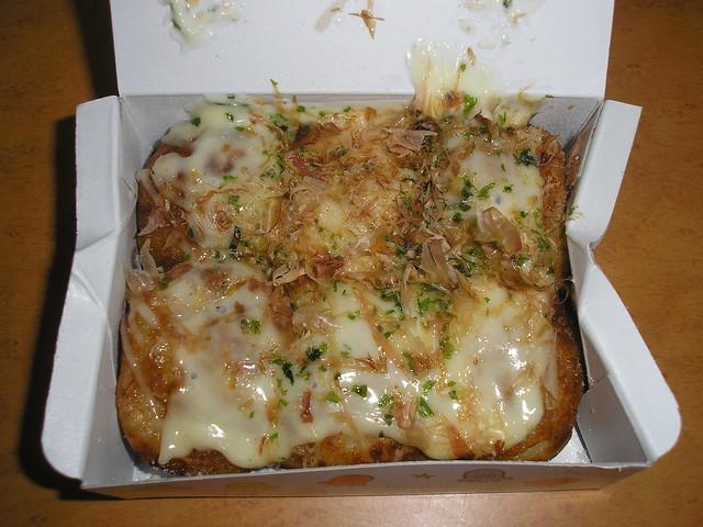 Takoyaki with cheese