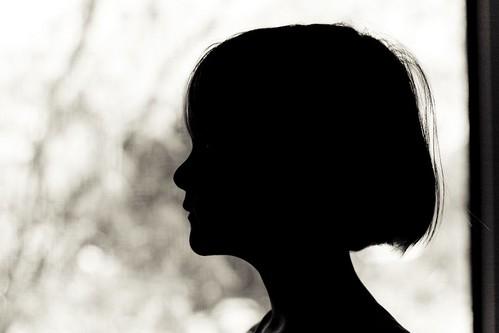Little girl silhouette