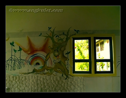 Nagarao Island Resort pavilion interior wall