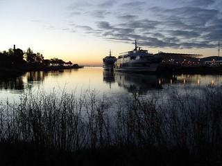 Larkspur Landing at dawn