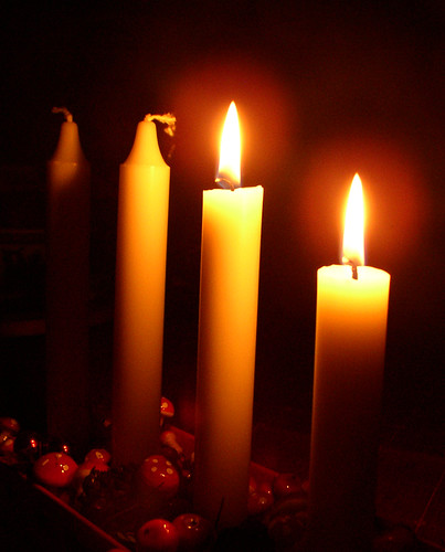 Second sunday in Advent and two candles are lit