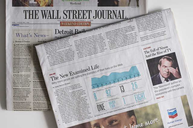 My Dad and I have had this bet since high school...  $100 paid anytime one of us gets our name in the Wall Street Journal.  Pay up, sucka!   (ps:  Stolen from Nick Felton, who's the superstar of this article)