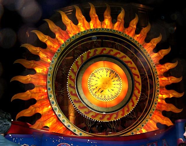 Eureka Parade Sun Float at Night