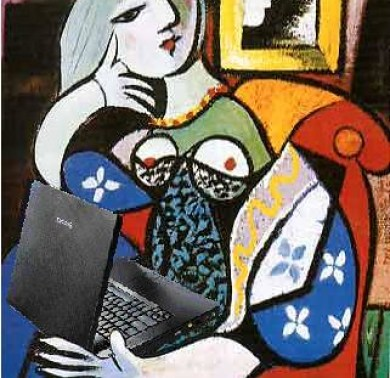 Woman with Blog, after Pablo Picasso