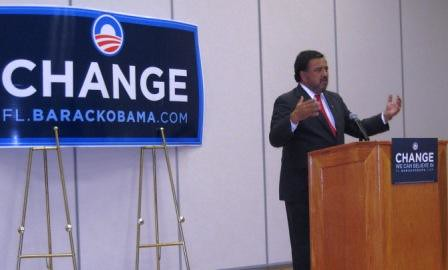 Gov. Bill Richardson Campaigning for Obama in Port Charlotte, Fla., Oct. 21, 2008