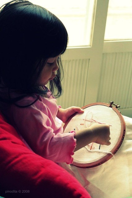 Kid Embroidering
