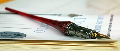 Glass dip pen