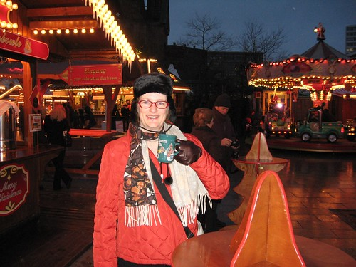 Drinking gluhwein in Berlin