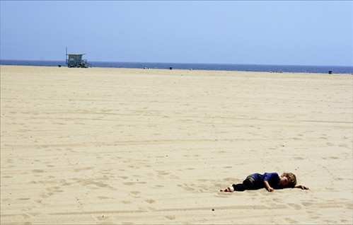 Relaxing at Venice Beach