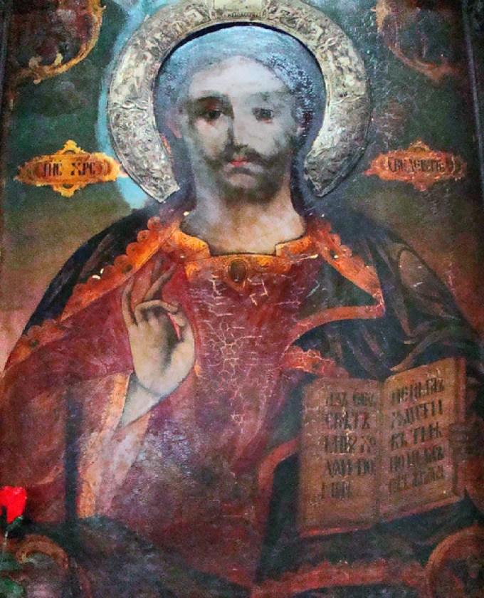Tryavna pintura en iconostasio interior Iglesia Arcangel San Miguel Bulgaria 28