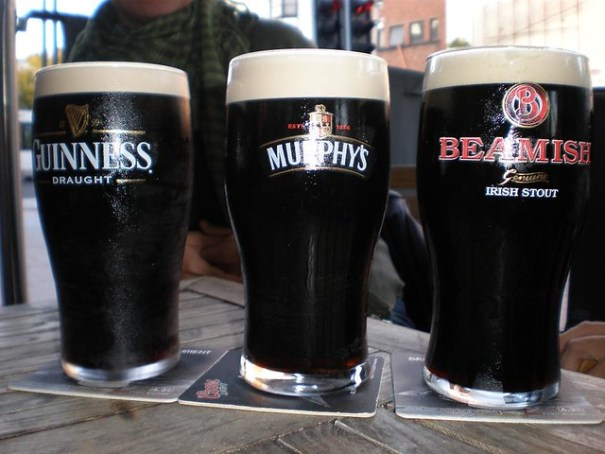 The beery trinity of stouts: Guinness, Murphy's, Beamish.
