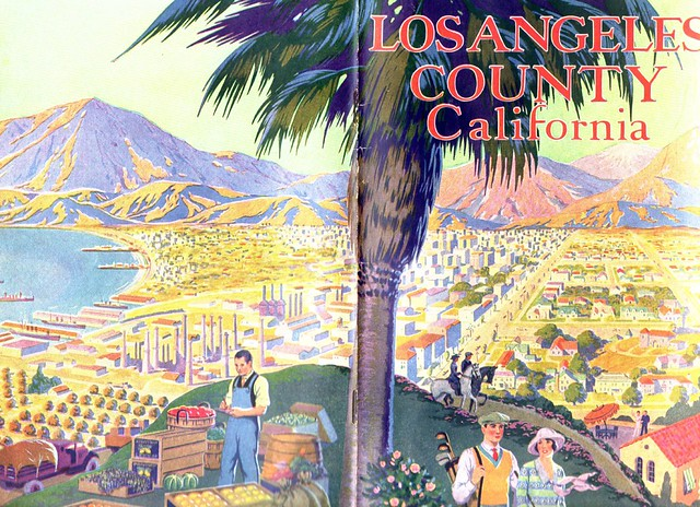 Los Angeles County - 1928 Front and Back Cover Foldout)