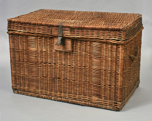 Wicker trunk attributed to Joachim Schildhauer, New Holstein, Wisconsin, 1890-1915