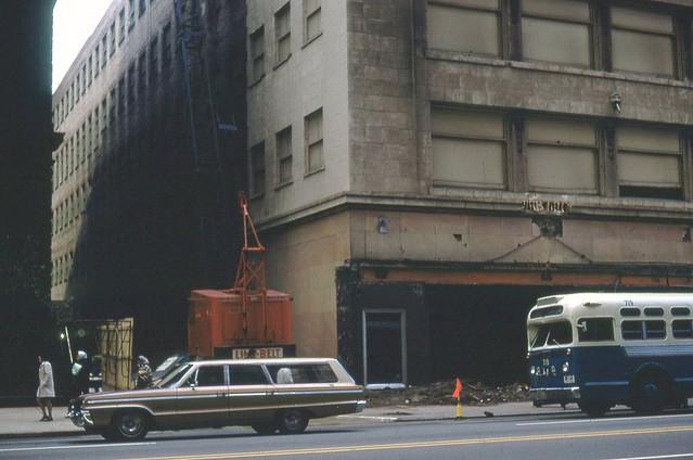 Sterling Linder Davis about to be razed Nov 12 1968