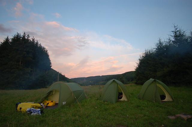 Camping in rural Belgium