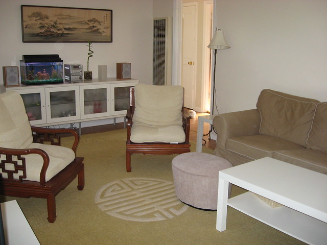 Living Room with New Rug