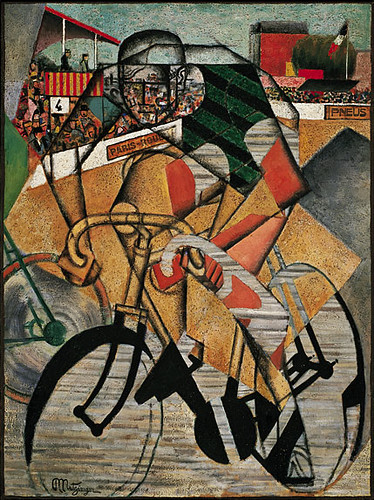 Metzinger, Jean (1883-1956) - 1914c. At the Cycle Race Track (Solomon R. Guggenheim Museum, New York City) by RasMarley